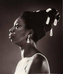 Nina Simone Posed Studio 1 OLD MUSIC PHOTO