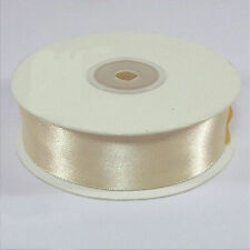 Full Reel Ivory Double Sided Satin Ribbon 3 10 16 25mm Crafts Cards Sewing 25mm X 25m