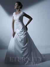 Lace Portrait/Off-Shoulder Plus Size A-line Wedding Dresses