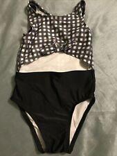 Toddler Girls' One Piece Swimsuit - Cat & Jack Black & White 2T, Nwot