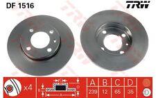 TRW Juego de 2 discos freno Antes 239mm SEAT IBIZA VOLKSWAGEN GOLF AUDI DF1516