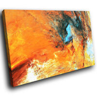 AB1497 Orange Blue Black Modern Abstract Canvas Wall Art Large Picture Prints