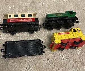 Lot of 4 Matchbox 24, 44, 47 Locomotives Train Flat Car Engine Shunter Lesney