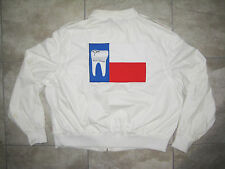 Vintage Members Only Rare Dentist Tooth Texas USA Flag Jacket Coat USED 2xl XXL