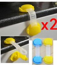 2Pcs Baby Child Drawer Cabinet Lock Short Style Safety Lock Baby Safe Protector✿