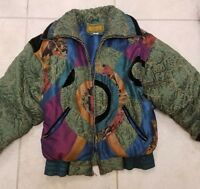 Women's Gallery Coat Size Large Vintage 1980s Very Colorful Beautiful Coat