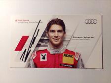 Edoardo Mortara - Autogramm / Autogrammkarte - Audi Sport - DTM 2011
