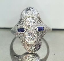 Vintage ANTIQUE OLD mine CUT 0.60ct  Diamond  18k white gold ring
