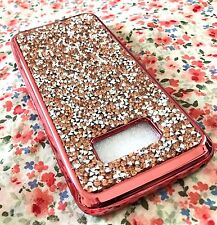 For Samsung Galaxy S8+ PLUS - Hard Rubber Case Crystal Diamond Studs Rose Gold