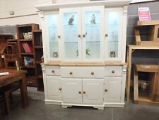 REGENCY PAINTED BREAKFRONT DISPLAY DRESSER- SOLID PINE- BESPOKE- HAND MADE
