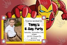 Kids Ironman Birthday Party Invite Template _DIY