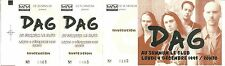 RARE / TICKET BILLET DE CONCERT - DAG : LIVE A GRENOBLE LE SUMMUM DECEMBRE 1995