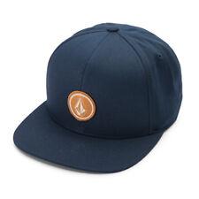 Volcom Uomo Quarter Twill Berretto Baseball Blu Navy Cappello Estate Copricapo