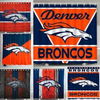 Denver Broncos 72 x72 Waterproof Fabric Shower Curtain Bathroom Toilet Decor