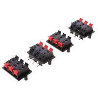 4pcs 6 Pins Stereo Audio Amplifier Speaker Terminal Board Clips
