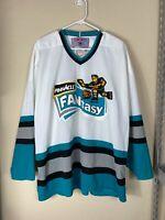 Mens XL CCM Maska Air Knit NHL Pinnacle Fantasy San Jose Sharks Jersey VTG 90s