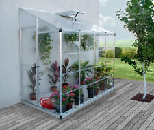 8′ x 4′ Lean-to Greenhouse 2.2m x 1.2m - Twin wall roof, 10 year warranty