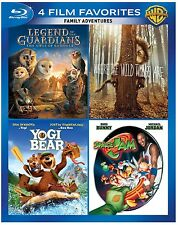 4 FAMILY ADVENTURES YOGI BEAR SPACE JAM+ MICHAEL JORDAN LOONEY TUNES BLU RAY