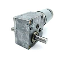 Reversible 12vdc 20RPM Right Angle Dual Shaft Worm Gear Motor 10mm D Shaft