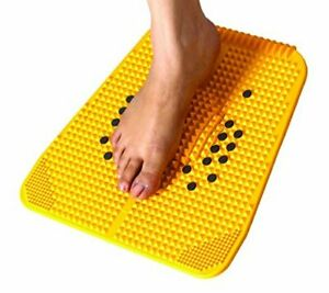 Acupressure Magnet Powermat Pyramid Therapy Massager Mat Pain Relief, Yellow
