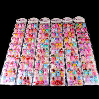 20pcs Girls Hairpin Mixed Assorted Baby Kid Children Cartoon Hair Pin Clips