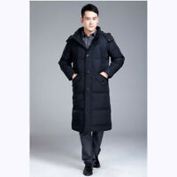 Winter Mens Long Puffer Warm Hooded Parka Duck Down Jacket Coat Overcoat Thicken