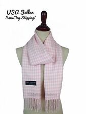 Winter Warm Cashmere Feel Women's Men's Scarf Houndstooth Check Plaid Soft Wrap