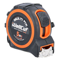 Wellcut Magnetic Tape Measure 5m/16ft 25mm Wide MultiFix System