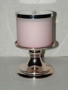 BATH AND BODY WORKS ROSE GOLD METALLIC PEDESTAL 3-WICK CANDLE HOLDER NWT