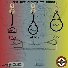Choker Sling Wire Rope Steel Cable 516 X 2 Iwrc Flemish Eye Lifting Rigging