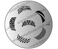 1 Konad Stamping Nail Nails Design Art Image Plate M45 USA SELLER