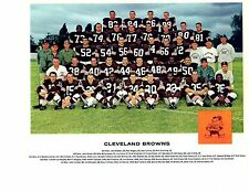 1962  CLEVELAND BROWNS TEAM 8x10 PHOTO JIM BROWN  FOOTBALL BEAUTIFUL PIC!