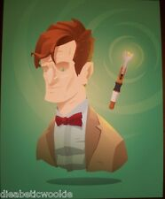 10th Dr Who David Tennant Tardis Sonic Screwdriver art print tv poster