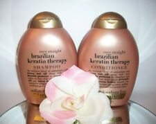 Brazilian Keratin Therapy Ever Straight Shampoo Conditioner Set Organix 13oz ea