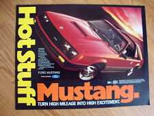 1981 Ford Mustang Ad  Hot Stuff