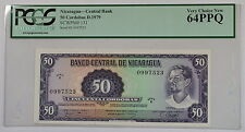 D.1979 Nicaragua 50 Cordobas Note SCWPM# 131 PCGS 64 PPQ Very Choice New