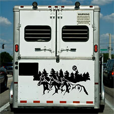 Running Mules Border RV Camper Horse Trailer Decal Stickers 22x42