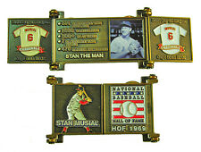 1969 Stan Musial Cooperstown MLB HOF Bronze Door Pin in Display Box - Cardinals