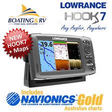 Lowrance HOOK 7 COMBO + Navionics PLUS Maps + CHIRP HOOK Transducer  FREE POST
