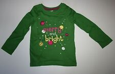 New Gymboree Merry and Bright Green Ornament Jewel Top Size 4 NWT Holiday Shirt