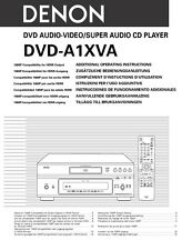 Denon DVD-A1XVA DVD Changer Owners Manual