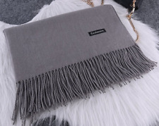 Neutral autumn and winter pure color wool cashmere wild shawl scarf