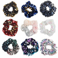 Elastic Sequins Glitter Hair Rope Women Ponytail Holder Scrunchie Hair Ring New