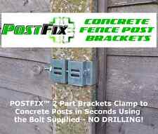 "POSTFIX Slotted Concrete Fence Post Bracket 4 PACK Fix Anything to 4"" x 4"" Posts"