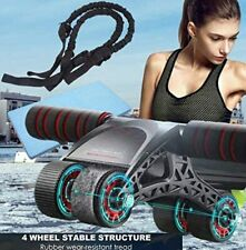 New Ab Roller Exercise Four Wheel Home Gym Workout Equipment Abdominal Core