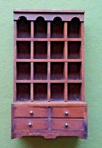 Wooden Dresser Thimble Display Rack - 21cm Tall and 12cm wide
