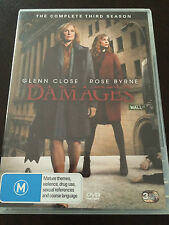 """Damages, Season 3"" 3 Disc Set, Glenn Close (DVD, 2010, Pal Region 4) *VGC*"