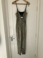 BNWT Topshop Gold jumpsuit Size 8 Excellent Condition SUMMER HOLIDAY PARTY