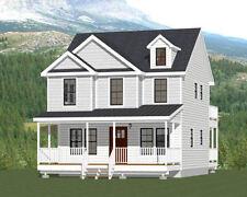 24x24 House -- 3 Bedroom 3 Bath -- 1,143 sq ft -- PDF Floor Plan -- Model 2A