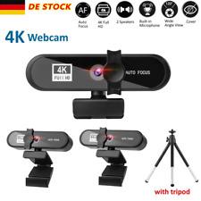 USB AF Webcam 4K HD mit Mikrofon WebKamera für Videochat Aufnahme PC Windows Mac